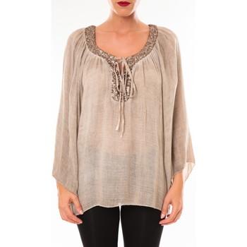 textil Mujer Tops / Blusas Tcqb Tunique TDI paillettes taupe Marrón