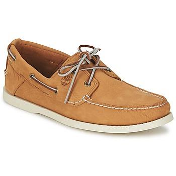 Zapatos Hombre Zapatos náuticos Timberland EK HERITAGE BOAT 2 EYE Beige