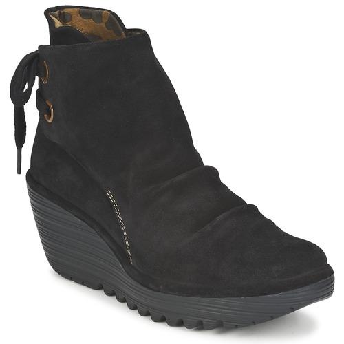 Casual salvaje Zapatos especiales Fly London YAMA Negro