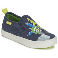 Zapatos Niño Slip on Geox KIWI B. D Azul / Verde
