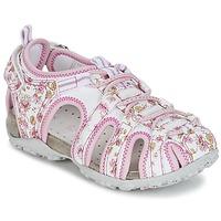 Zapatos Niña Sandalias de deporte Geox S.ROXANNE C Blanco / Rosa