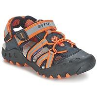 Zapatos Niño Sandalias de deporte Geox SAND.KYLE C Marino / Naranja