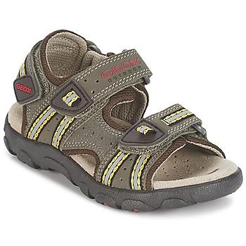 Zapatos Niño Sandalias de deporte Geox S.STRADA A Marrón / Ocre