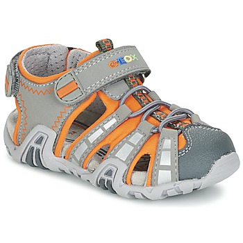 Zapatos Niño Sandalias de deporte Geox SANDAL KRAZE B Gris / Naranja