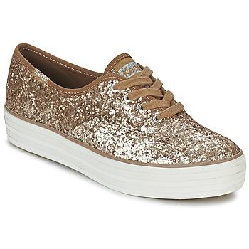 Zapatos Mujer Zapatillas bajas Keds TRIPLE GLITTER Oro