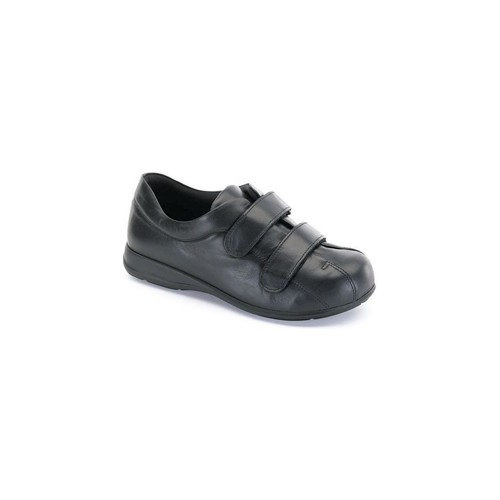 Zapatos Mujer Botas de caña baja Calzamedi VELCRO UNISEX PIE DIABETICO NEGRO