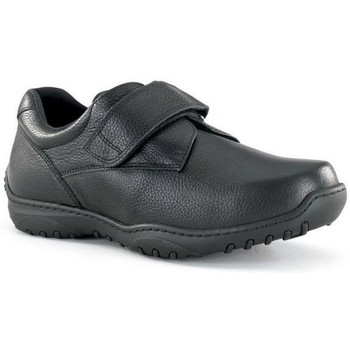 Zapatos Hombre Derbie Calzamedi ZAPATO CON VELCRO ANCHO 20 COMODO M NEGRO