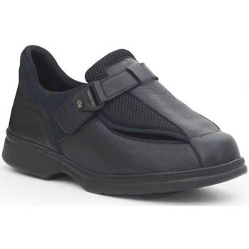 Zapatos Hombre Mocasín Calzamedi ESPECIAL EMPEINES ANCHOS PIE DIABETICO NEGRO