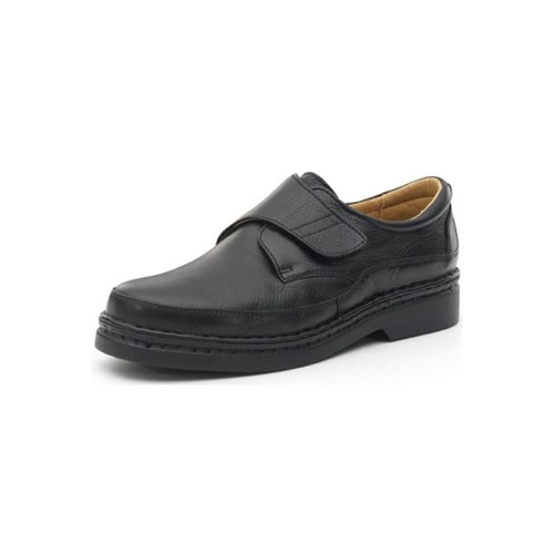 Zapatos Hombre Derbie Calzamedi ZAPATOS  CON VELCRO COMODO COSIDO A MANO H NEGRO