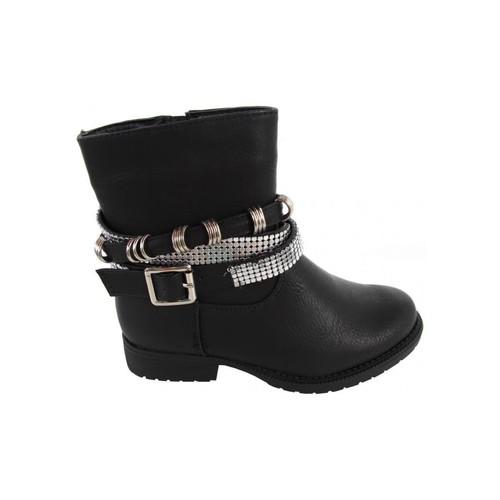 Zapatos Niña Botines Top Way B080340-B4600 Negro