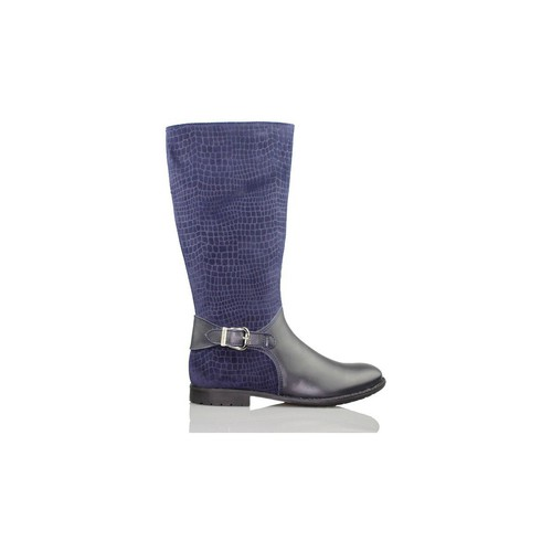 Zapatos Niña Botas de caña baja Biomecanics GARVALIN BOTA CHICA CON SERRAJE GRABADO AZUL