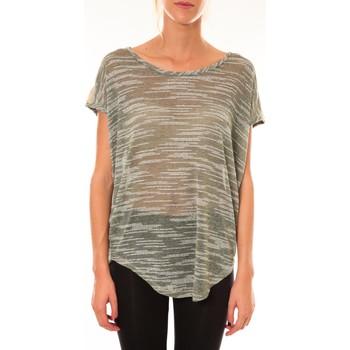 textil Mujer Camisetas manga corta Dress Code Top à sequins R5523 vert Verde