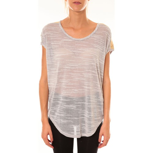 textil Mujer Camisetas manga corta Dress Code Top à sequins R5523 gris Gris