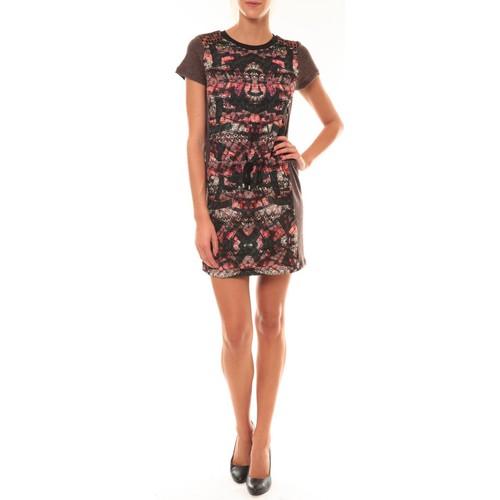 textil Mujer Vestidos cortos Custo Barcelona Robe Laize Licorice marron Marrón