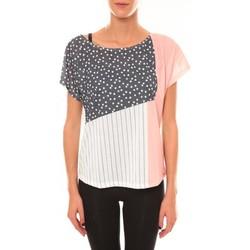 textil Mujer Camisetas manga corta Coquelicot Top 15403/001 blanc Blanco