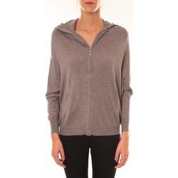 textil Mujer Chaquetas Sweet Company Sweat Company Sweat zippé L1039 marron Marrón