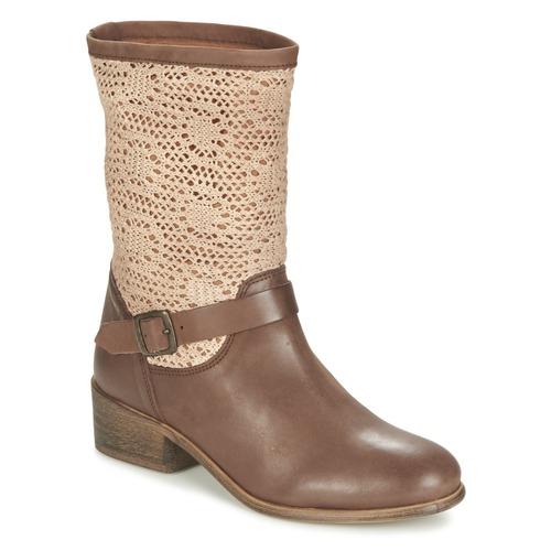 Zapatos Mujer Botas de caña baja Betty London CASTAGNO Marrón