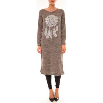 textil Mujer Vestidos cortos By La Vitrine Robe Plume prune Violeta
