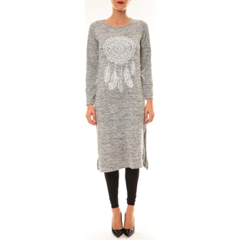 textil Mujer Vestidos largos By La Vitrine Robe Plume gris clair Gris
