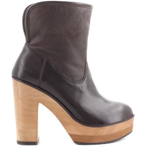 Zapatos Mujer Botines Cubanas Botas Wave300 Marrón