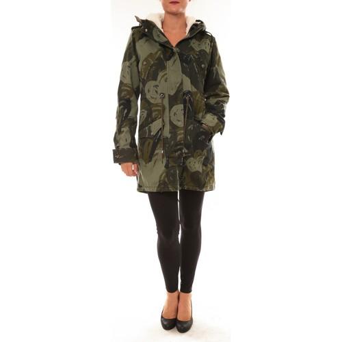 textil Mujer Parkas Desigual Doudoune Drucilla 57E29X7 kaki Verde
