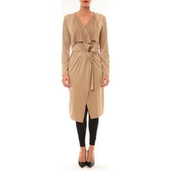 textil Mujer Chaquetas de punto La Vitrine De La Mode By La Vitrine Cardigan asymétrique Nina beige Beige