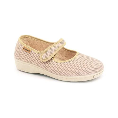 Zapatos Mujer Bailarinas-manoletinas Calzamedi DE TELA W BEIGE