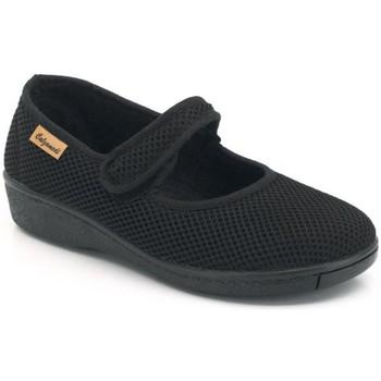 Zapatos Mujer Bailarinas-manoletinas Calzamedi DE TELA W NEGRO
