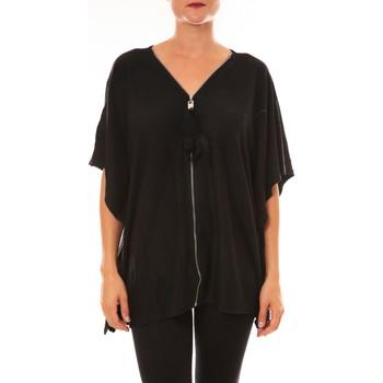textil Mujer Camisetas manga corta De Fil En Aiguille Cardigan MC1209 noir Negro