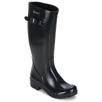 Zapatos Mujer Botas de agua Aigle BRILLANTINE Negro