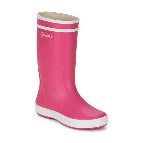 Zapatos Niña Botas de agua Aigle LOLLY-POP Rosa / Blanco