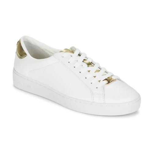 Zapatos Mujer Zapatillas bajas MICHAEL Michael Kors IRVING Blanco / Dorado