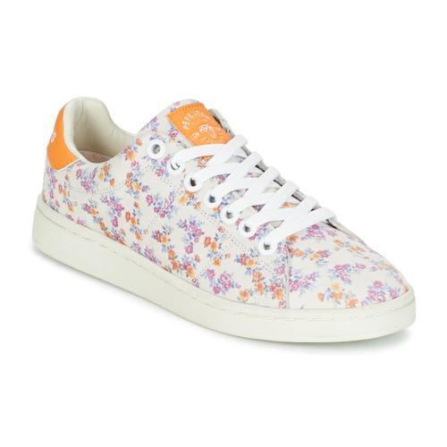 Zapatos Mujer Zapatillas bajas Pepe jeans CLUB FLOWERS Blanco