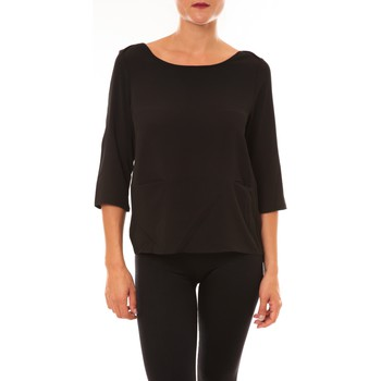 textil Mujer Camisetas manga larga La Vitrine De La Mode By La Vitrine Top K598 noir Negro