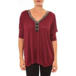 textil Mujer Tops / Blusas La Vitrine De La Mode By La Vitrine Top R5550 bordeaux Rojo