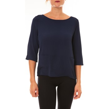 textil Mujer Camisetas manga larga La Vitrine De La Mode By La Vitrine Top K598 marine Azul