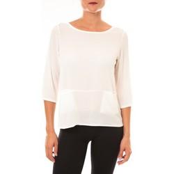 textil Mujer Camisetas manga larga La Vitrine De La Mode By La Vitrine Top K598 blanc Blanco