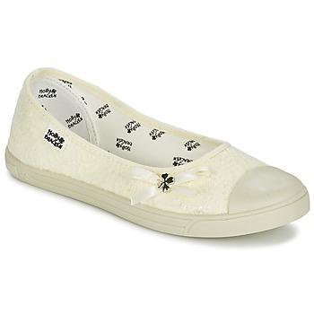 Zapatos Mujer Bailarinas-manoletinas Molly Bracken LONA STRASS Crema