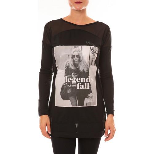 textil Mujer Camisetas manga larga La Vitrine De La Mode Tee Shirt Manches Longues MC1919 noir Negro
