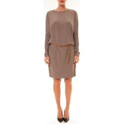textil Mujer Vestidos cortos Dress Code Robe 53021 taupe Marrón