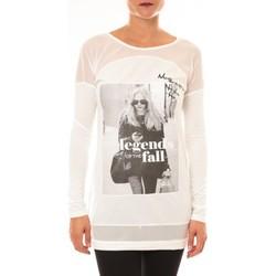 textil Mujer Camisetas manga larga La Vitrine De La Mode Tee Shirt Macnhes Longues MC1919 blanc Blanco