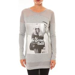 textil Mujer Jerséis La Vitrine De La Mode Tee Shirt Manches Longues Sweat MC1919 gris Gris