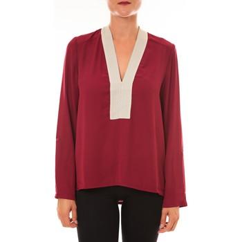 textil Mujer Tops / Blusas La Vitrine De La Mode By La Vitrine Blouse Z089 bordeaux Rojo