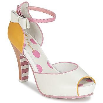 Zapatos Mujer Sandalias Lola Ramona ANGIE Rosa / Blanco