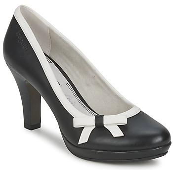 Zapatos Mujer Zapatos de tacón Bugatti AZELINIA Negro / Blanco