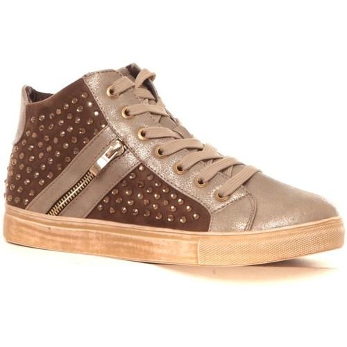 Zapatos Mujer Zapatillas altas Cassis Côte d'Azur Baskets Champion or Oro
