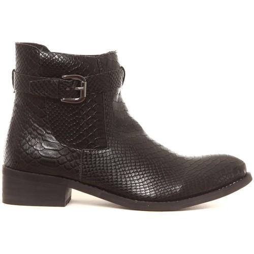 Zapatos Mujer Botas de caña baja Cassis Côte d'Azur Bottines Hiro noir Negro