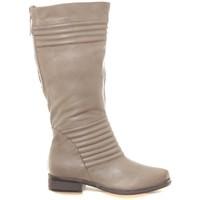 Zapatos Mujer Botas urbanas Ilario Ferucci Bottes en cuir Gaelane taupe Marrón