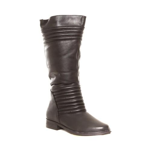 Zapatos Mujer Botas de agua Cassis Côte d'Azur Ilario Ferucci Bottes en cuir Galeane noir Negro