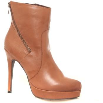 Zapatos Mujer Botines Ilario Ferucci Bottines en cuir Gicanda camel Marrón